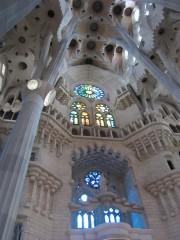 天井とステンドグラス